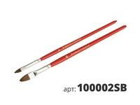 МАКО кисти реставрационные 2 штуки в наборе, высококачественная смесь щетины 100002SB