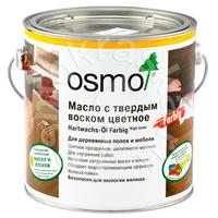 Масло с твердым воском цветное OSMO Hartwachs-Öl Farbig