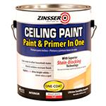 Краска для потолка самогрунтующаяся Zinsser Ceiling Paint - Paint and Primer in One