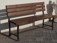 Скамейка «Садовая» со спинкой без подлокотников - 1,8 м.
