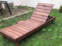 Топчан деревянный со столиком 2,15*0,75 м, h-0,30м