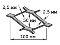Сетка ЦПВС г/к 100х50 (В-2,5 х Г-2,5)