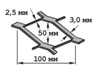 Сетка ЦПВС г/к 100х50 (В-3,0 х Г-3,0)